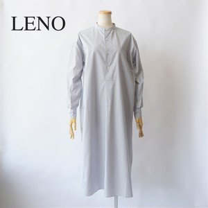 LENO/リノ・BAND COLLAR PULLOVER DRESS (STRIPE)