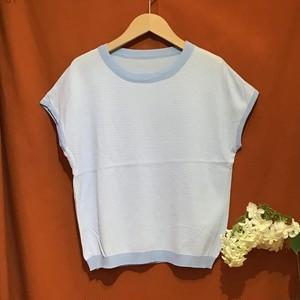 Border Summer Knit    Color : Light Blue