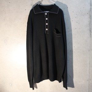 Wool Acrylic Knit Polo