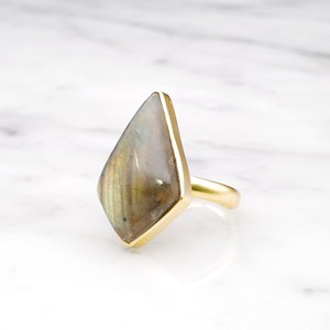 SINGLE BIG STONE RING GOLD 131