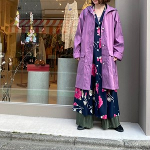 ◼︎90s star print lining button up hooded coat from U.S.A.◼︎