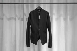 thom krom / NO COLLAR JACKET / BLK