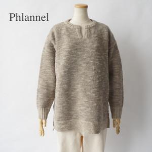 Phlannel/フランネル・Wool Slub Yarn Skipper Sweater