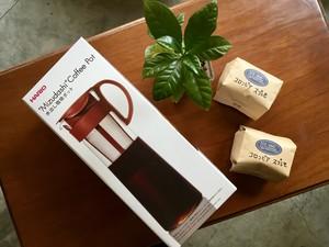 水出しコーヒーセット(ポット+コーヒー豆2回分)
