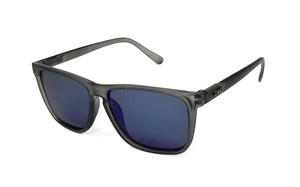RECOIL Matte Clear Gray x Blue Mirror Polarized