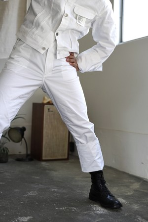 <STYLING> ⇨ TUKI - cowboy jacket & pants (white)