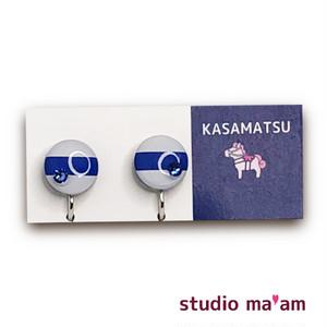 ■KASAMATSU-09 イヤリング。まる。〜ピアス変更可〜