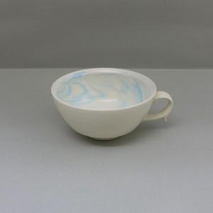 マーブル水色 スープカップ