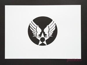 ステンシルシート アメリカ空軍マーク(旧)