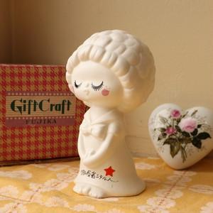 レトロファンシー Midori by FUJIKA 女の子 陶器製 貯金箱