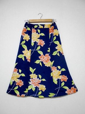 レトロ小紋の着物スカート Kimono Skirt  WS-004/M