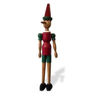 【イタリア 木製 大きなピノキオ人形(身長115cm)】