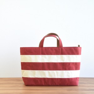WIDE BORDER TOTE FL / RED(Short handle)