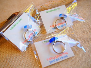 針金細工ateliersaono 大野さをり fusing glass ringサークル