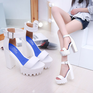 【sandal】2018 summer new fashion  solid color open toe sandals