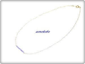 (WN01)タンザナイトの14KGFネックレス