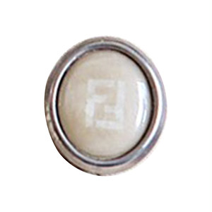 【VINTAGE FENDI BUTTON】Ellipse ベージュ ボタン