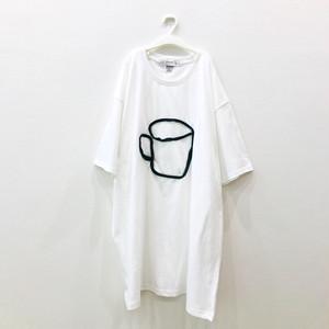 ビッグシルエットTシャツ(cup)White×Black