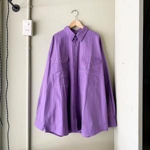 o.k. ワイドワークシャツ パープル