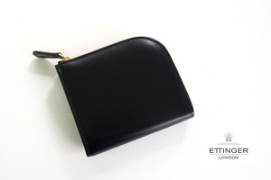 エッティンガー|ETTINGER|ブライドルレザーLジップマルチウォレット|ブラック×グリーン