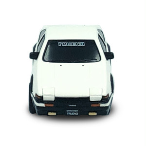 トヨタ博物館オリジナルプルバックミニカー トヨタ スプリンタートレノAE86(黒/白ツートン)