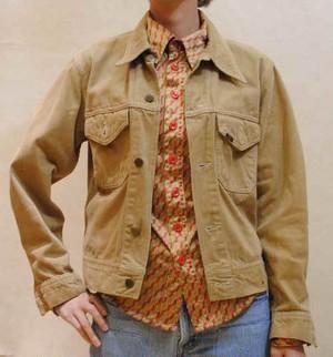 訳ありセール品◆S~Lサイズ【アメリカ製古着】[LEE]◆ベージュ前ボタン◆ジャケット