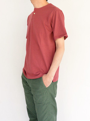 Jackman ジャックマンJM5713 Henley neck T-shirt #Old Maroon