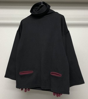 1980s JEAN PAUL GAULTIER FUNNEL NECK SWEATSHIRT WITH GLOVE