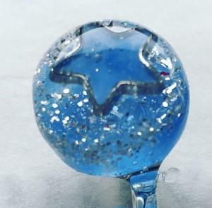 ヘアピン 水色 ラメ キラキラ 髪飾り ブルー 星