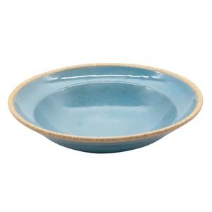 萬古焼 藍窯 パスタ皿 直径21cm 「エスタ Esta」 赤土ブルー AGM-200095
