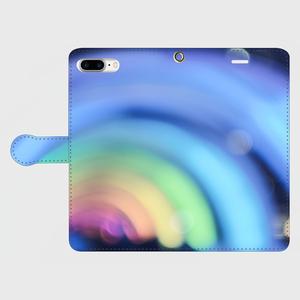 night rainbow 手帳型スマホケース