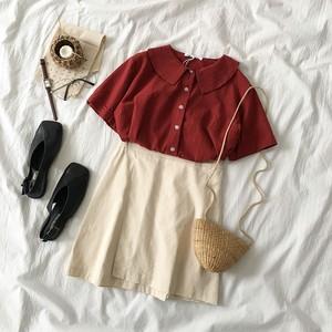 バラ売り 半袖トップス 不規則スカート 2パターン RPT972204