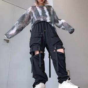 【即納】韓国ファッション Wバックル2wayPants