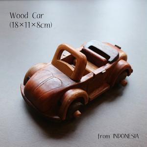 【 ウッドカー 】 ウッド 木製 手作り 車 car くるま インテリア おもちゃ プレゼント おしゃれ アジアン雑貨 インドネシア