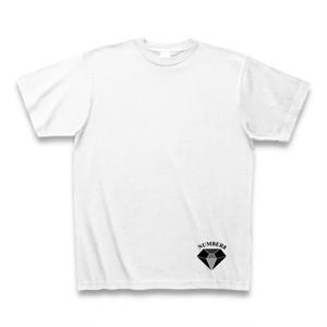 Number8(ナンバーエイト) 腰部分ワンポイントダイヤモンドTシャツ(ホワイト×ブラック)