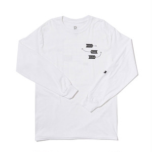 PARK DELI - Windows Grid Long Sleeve Tee (White)