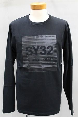 SY-32 by SWEET YEARS   ホログラムグラフィックロンTEE ブラック