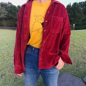 L.L.Bean エルエルビーン 太畝 コーデュロイシャツ 赤