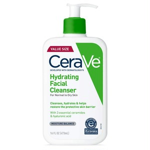 CeraVe (セラヴィ)Hydrating Face Wash | 16 Ounce | Daily Facial Cleanser for Dry Skin | Fragrance-Free