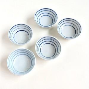 [NO.016] ブルーストライプ茶碗 大正/ Blue Stripe Cups / Taisho Era