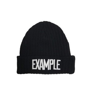 EXAMPLE LOGO SUMMER BEANIE /BLACK