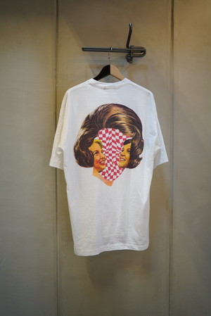 UNDER COVER / BIGTEE CHECKERED FACE (WHITE)