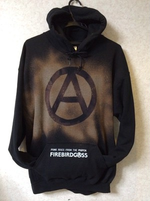 FIREBIRDGASS BLEACH HOODY 【ANARCHY FOREVER】