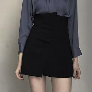 【ボトムス】シンプル合わせやすい切り替えAラインスカート20391102