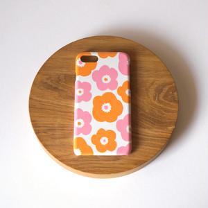 popy ( pink × orange ) スマホケース - L サイズ 【受注生産】