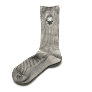 "Myloadsarelight × Alwayth ""Charcoal Flower Socks "" [送料無料]"