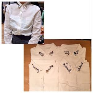 襟刺繍シャツ(241121)