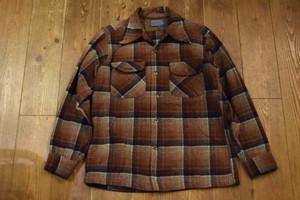 USED 70s USA製 ペンドルトン ウールシャツ M ブラウン系 ビンテージ vintage