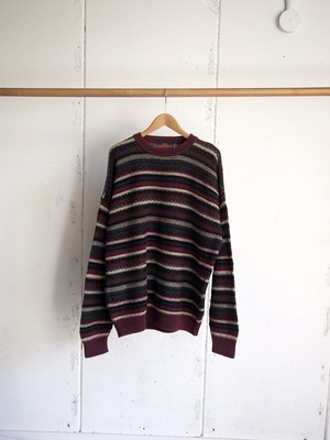 USED / Stone Haven, cotton border knit