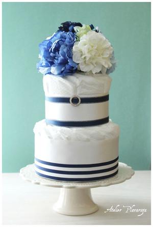 ダイパーケーキ【Prussian blue(プルシャンブルー)】(Sサイズおむつ使用)